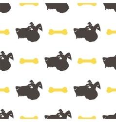 Dog Seamless Animal Pattern vector image