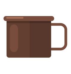 enamel mug icon flat style vector image