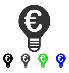 Euro bulb flat icon vector