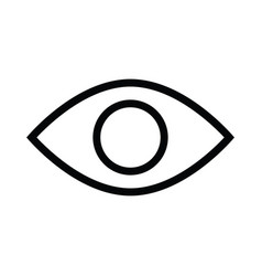 eye health icon with outline style vector image