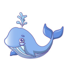 fin whale icon cartoon style vector image