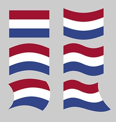 Flag of Netherlands Set of flags of Netherlands in vector image