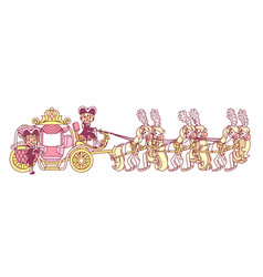 Flat cinderella carriage vector