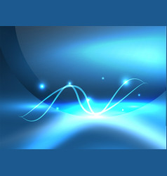 glowing shiny wave background vector image