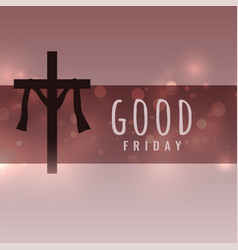 Good friday wishes card with cross symbol vector