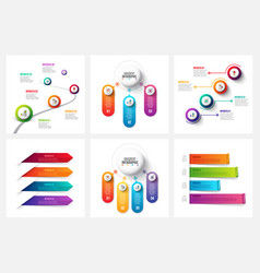 gradient infographic and marketing elements vector image