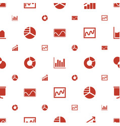 Graph icons pattern seamless white background vector