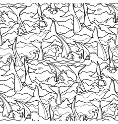 Graphic dolphin pattern vector