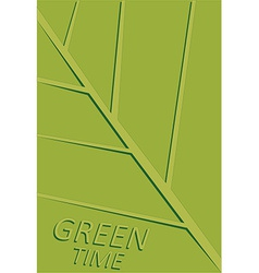 Green leaf template vector
