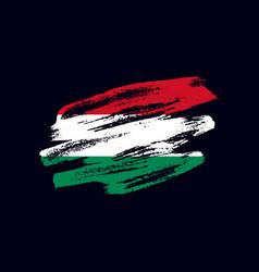 Grunge textured hungarian flag vector
