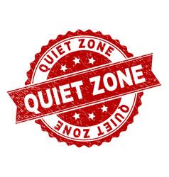 Grunge textured quiet zone stamp seal vector