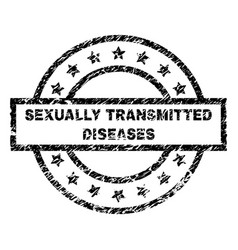 Grunge textured sexually transmitted diseases vector