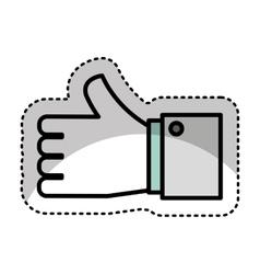 Hand human symbol icon vector
