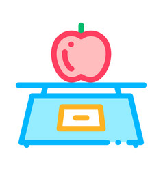 healthy food fruit apple thin line icon vector image