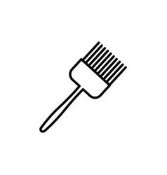 kitchen brush icon vector image