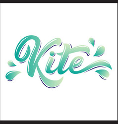Kite board lettering logo in graffiti style vector