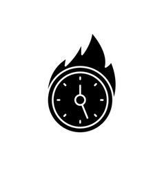 lack of time black icon sign on isolated vector image