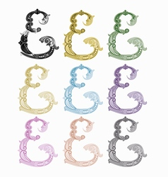 littera E vector image