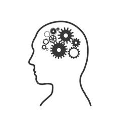 Man icon Human head design graphic vector