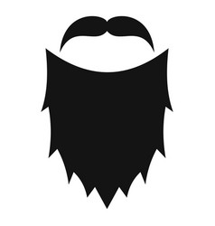 mask beard icon simple style vector image