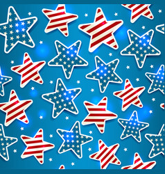 memorial day with star seamless vector image