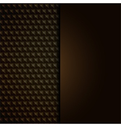 Metallic background with panel vector