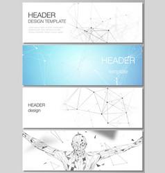 minimalistic editable layout of headers vector image