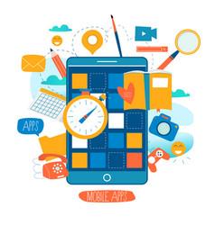 mobile application development process vector image