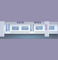 modern public transport no people underground vector image