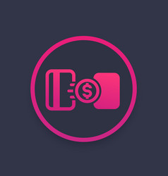 money transfer between cards icon vector image