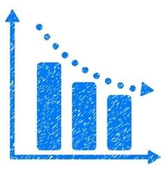 Negative Trend Grainy Texture Icon vector
