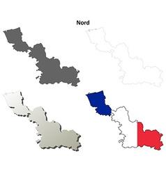 Nord nord-pas-de-calais outline map set vector
