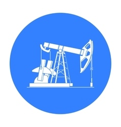Oil pumpjack icon in black style isolated on white vector
