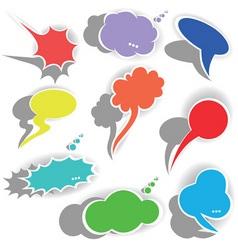 Paper origami speech bubble dialog cloud il vector