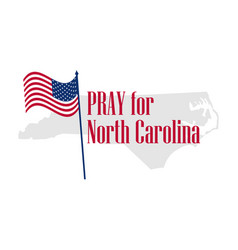 Pray for north carolina hurricane natural vector