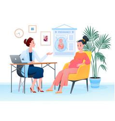 prenatal medicine pregnancy medical checkup in vector image