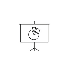 Presentation billboard sign icon scheme and vector