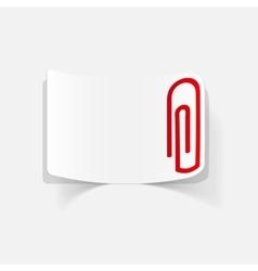 Realistic design element paper clip vector