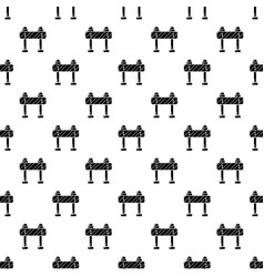 road block pattern seamless vector image