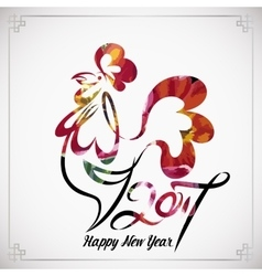 rooster chinese new year design graphic vector image