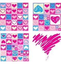 Seamless valentine backgrounds vector image