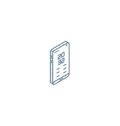 smartphone mobile phone isometric icon 3d line vector image