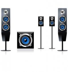 speaker set vector image
