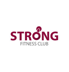 Strong fitness club logo template vector
