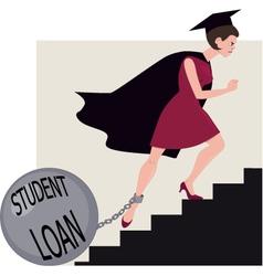 Student loan burden vector