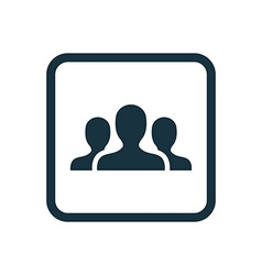 team icon Rounded squares button vector image