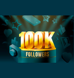 Thank you followers peoples 10k online social vector