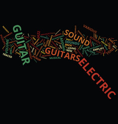 The electric guitar text background word cloud vector