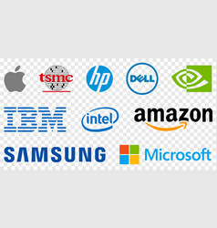 Top 10 electronics companies in world vector