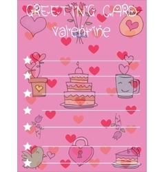 Valentine greeting card backgrounds vector